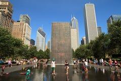 парк тысячелетия chicago стоковые изображения