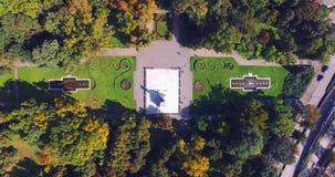 Парк увиденный от трутня сток-видео