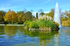 парк фонтана урбанский Стоковое фото RF