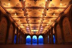 парк фонтана bethesda аркады центральный Стоковые Изображения