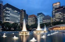 Парк фонтана Wadakura Стоковые Изображения