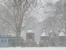 Парк холма кедра в снеге Стоковые Фотографии RF