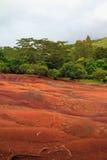 Парк 7 цветов в Chamarel Маврикий Стоковые Изображения RF