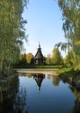 парк церков осени старый деревянный Стоковые Фотографии RF