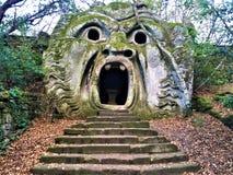 Парк чудовищ, священная роща, сад Bomarzo Рот и алхимия Orcus стоковое изображение