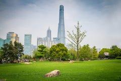 Парк Шанхая, Китая, Gucheng стоковые фотографии rf