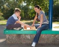 парк шахмат стоковые фотографии rf