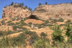 Парк штата вне выписываний счетов, Монтана Pictograph в лете стоковое изображение