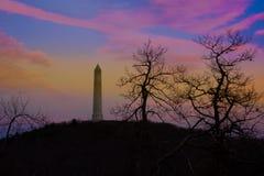 Парк штата высокой точки в последнем заходе солнца осени Стоковые Изображения RF