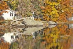 Парк штата в осени, NH Sunapee держателя стоковые изображения rf