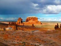 Парк штата долины гоблина, привлекательность ландшафта Юты Стоковые Изображения RF