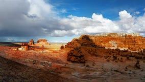 Парк штата долины гоблина, привлекательность ландшафта Юты Стоковые Фото