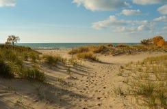 Парк штата дюн Уоррена на Lake Michigan Стоковые Изображения RF