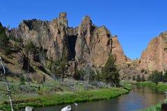 Парк штата Орегон утеса Смита Стоковые Изображения