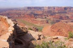 Парк штата пункта мертвой лошади, Canyonlands, Юта Стоковое Изображение RF