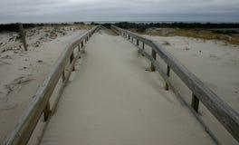 Парк штата пляжа острова Мили песчанных дюн и белого песочного bea Стоковые Изображения RF