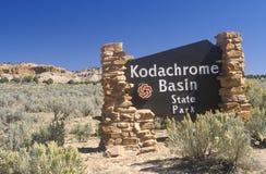 Парк штата тазика Kodachrome Стоковое фото RF