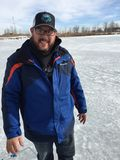 Парк штата 8 St Vrain события рыбной ловли льда Стоковое фото RF