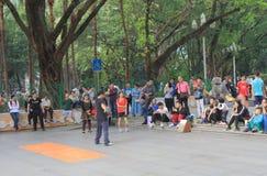 Парк людей Гуанчжоу Китай стоковые изображения rf