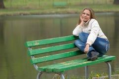 парк девушки Стоковое Фото