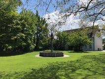Парк Augustinian монастырем Crucelin или аббатством Kreuzlingen, Швейцарией стоковые изображения