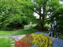 Парк Augustinian монастырем Crucelin или аббатством Kreuzlingen стоковое изображение rf