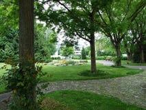 Парк Augustinian монастырем Crucelin или аббатством Kreuzlingen стоковые изображения