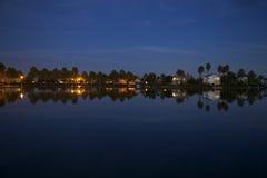 Парк Bartholomew после наступления темноты Стоковые Фотографии RF