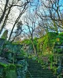 Парк Beaumont в Huddersfield, Великобритании стоковое фото rf