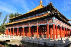 Парк Beihai - мир рая Hall стоковое изображение