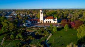 Парк Boise City и взгляд депо поезда сверху Стоковые Изображения