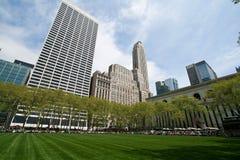 Парк Bryant и здания, Нью-Йорк Стоковые Фото