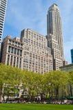 Парк Bryant и здания, Нью-Йорк Стоковое Изображение