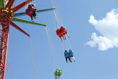 парк carousel занятности Стоковое фото RF