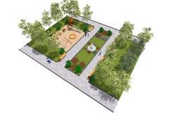 Парк 3D мини Стоковое фото RF