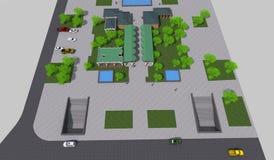 Парк 3D мини Стоковые Фото
