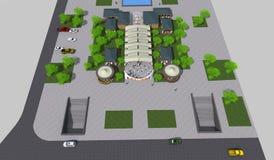 Парк 3D Стоковые Изображения