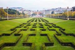 Парк Eduardo VII в Лиссабоне, Португалии Стоковые Фото