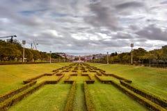 Парк Eduardo VII - Лиссабон, Португалия Стоковое Изображение