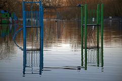 Парк Fordingbridge затопляет 2014 Стоковое Фото