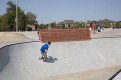Парк Frisco Техас конька Стоковое Изображение RF