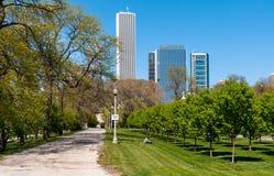 Парк Grant, Чикаго Стоковое Изображение RF