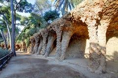 Парк Guell в Барселоне, никто стоковое изображение rf