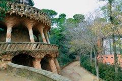 парк guell 10 barcelona Стоковое Изображение