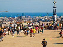 парк guell barcelona Стоковое фото RF