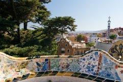 парк guell barcelona стоковое изображение