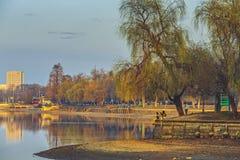 Парк Herastrau, Бухарест, Румыния стоковое изображение rf