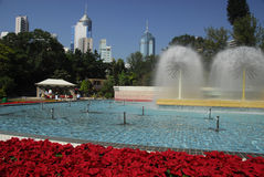 парк Hong Kong фонтана Стоковое Фото