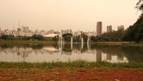 Парк Ibirapuera в Сан-Паулу сток-видео