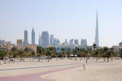 парк jumeirah Дубай пляжа Стоковое Изображение